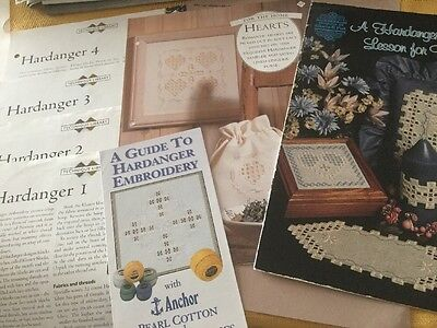 Bundle Of Hardanger Booklets, Charts And Instructions Ideal For Beginners