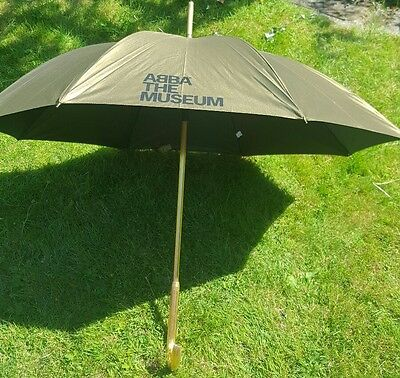 ABBA very collectable Metallic Gold Large Umbrella Abba Museum Stockholm Sweden