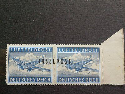 Stamps Germany INSELPOST LUFTFELD POST 1944 Error lot 2 (signed )