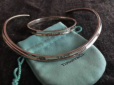 Tiffany & Co Sterling Silver 1837 Cuff Necklace And Bangle Bracelet 78g