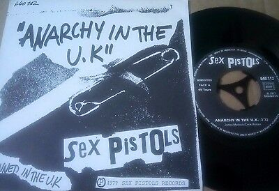 """Sex Pistols 7"""" French - Anarchy In The U.k Rare & Orig 1977 Import Single Punk"""