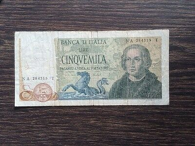 Christopher Columbus 5000 Lire Banknote