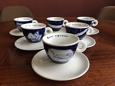 "illy / Amici collection ""Perforniture"" by Vittorio Corsini 6er Cappuccinoset NEU"