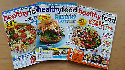 3 x Healthy Food Guide Magazine HFG July & Aug 2014 Oct 2015