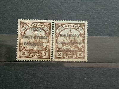 Stamps GERMANY / GERMAN TOGO COLONIES OCCUPATION  SIGNED LOT ERROR