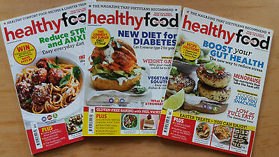 3 x Healthy Food Guide Magazine HFG Dec 2015 March & June 2016