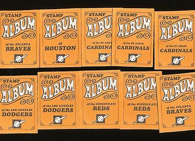 10 Total 6 Different 1969 Topps Stamps Empty Booklets Aaron Rose Brock Bench