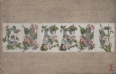 Novelty Large Letters Cissie With Flowers 1911 Dodworth Thimble