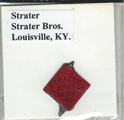 Tobacco Tag Strater Bros. Co. Louisville, KY. Strater