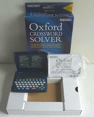 Seiko Electronic Oxford Crossword Solver,er3200, Boxed & Instructions