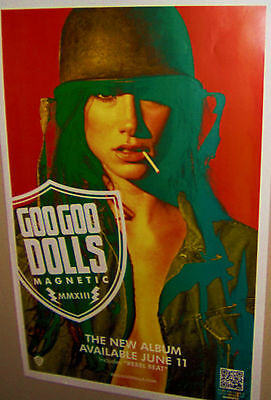 GOO GOO DOLLS  MAGNETIC  MMXIII Rebel Beat Promo Poster Very COOL