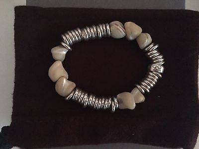 Links Of London White Stone Chain Sweetie Bracelet Sterling Silver, Small