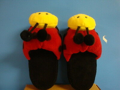 Lady Bug slippers, size 5-6
