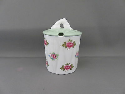 Small Shelley 'Rosebud' 13426 Preserve Pot with sage coloured lid