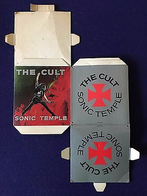 The Cult * Sonic Temple * 1989 Promo Cardboard Display Cube * Unfolded * Rare