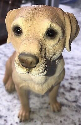 YELLOW LABRADOR RETRIEVER  Sitting Dog Figurine Statue Pet Lover Resin LARGE!