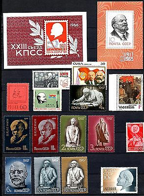 Russia lot of Lenin stamps