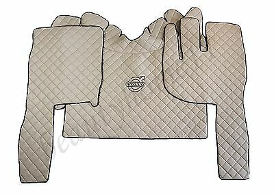 Set of Right Hand Drive Floor Mats Cover For VOLVO FH4 Euro 6 BEIGE Eco Leather.