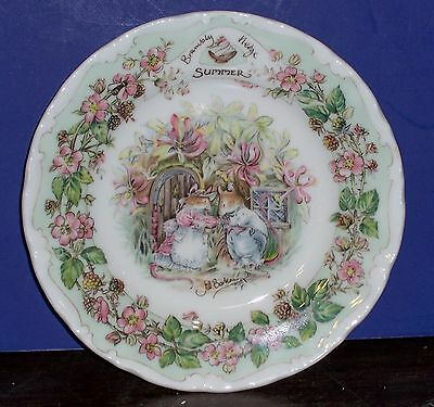 """Royal Doulton Afternoon Tea Plate 6.25"""" From Brambly Hedge Collection Summer"""