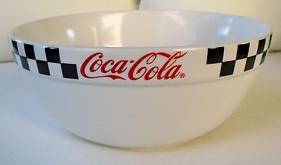 Coca-Cola Black & White Checkered Large Serving/ Mixing Bowl By Gibson