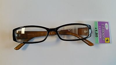 EZ Reader Fashion Reading Glasses VICKY +1.50 NWT