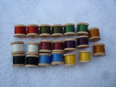 Fly Tying Threads 20 Small Spools Lot
