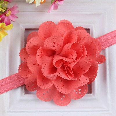 Watermelon Red Girl Lace Flower Headband Hair Band Headwear Toddler Accessories