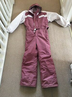 Girls All In One Decathlon Ski Suit Age 12-14