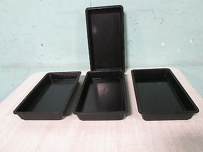 "Lot Of 4 ""egs Foodservice"" Commercial Black Melamine Venetian Merchandising Bowl"