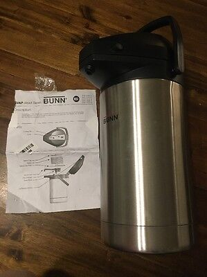 BUNN 3-Liter Lever-Action Airpot Coffee Pot - Stainless Steel Silver