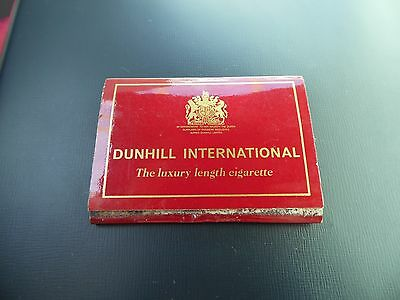 Vintage Matchbook Dunhill International Cigarette Advertising Complete Matchbook