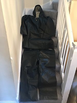 Viking Rubber Company 2 Piece Water Proof Suit Fishing Fausk Denmark Need Straps