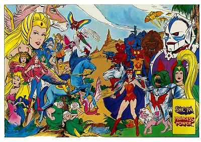 She-Ra POSTER Princess of Power *AMAZING COLORS & ART* He Man She Ra LARGE Print