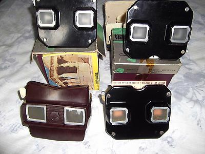Vintage View-Master x4 With preview Reel & leaflet some boxed made in USA