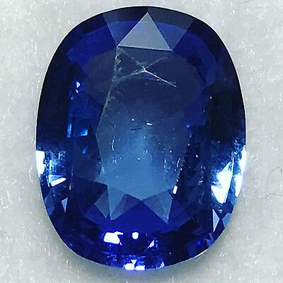 Natural 4.53 Carat Unheated Blue Sapphire Cushion Genuine Loose Gemstone