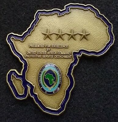 SIGNATURE PIECE 4 Star General US Africa Command AFRICOM PS Det Challenge Coin