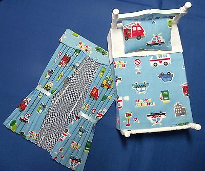 12th SCALE BLUE BOYS TOYS CURTAINS + NETS