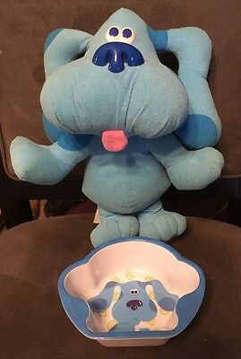 Blues Clues Sing-Along Plush Doll Sings Barks Talk Tyco 1997 Bowl Included