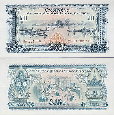 Laos 100 Kip Banknote 1975 Uncirculated Condition Cat#23-A-1776