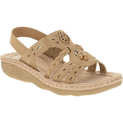 Earth Spirit US Shoes Size 8 Women's Sandal Leather Suede Comfort Casual Slip On