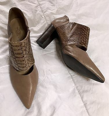 NEW! TOP END Taupe genuine LEATHER Shoes Size 37 New! New!