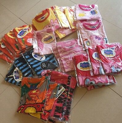 Bulk Lot Of  Disney / Peppa Pig, Superman kids tops t-shirts In Brand New