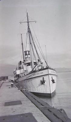 W112 1940's The General Royal T. Frank U.S Army Ship WWII Photo Negative