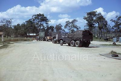 427J Original 1960's Slide Convoy Of US Army Military vehicles Truck Vietnam War