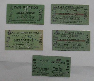 NSW railway tickets  YASS JUNCTION TO MELBOURNE  - economy (4)