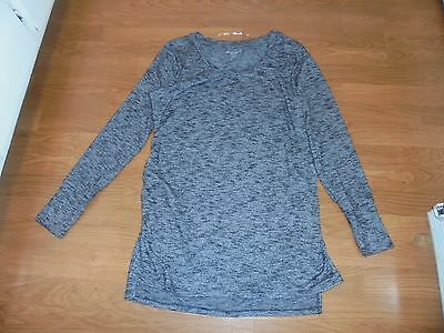 NWOT Liz Lange Maternity gray sweater tunic with runching size L