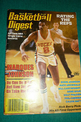 Basketball Digest-April 1980 Marques Johnson Cover