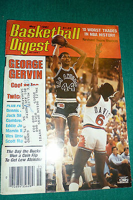 Basketball Digest-May 1981 George Gervin Cover