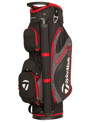 Taylormade 2017 Cart Golf Bag - Black/red - New - Value Plus!