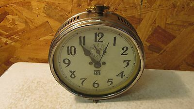 Antique Pagoma Nickel Plated Alarm Clock